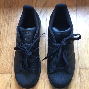 Women's Adidas black sneakers size 5.5